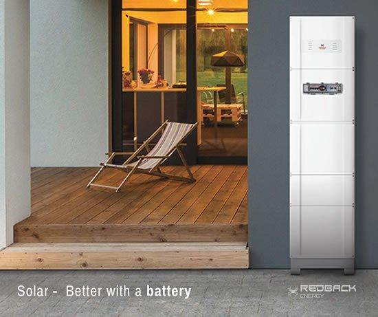 Redback Solar Inverter with Battery Storage